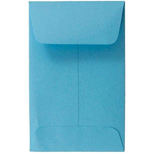 """JAM Paper #1 Coin Envelopes - 2 1/4"""" x 3 1/2"""" - Lunar Blue - 50/pack"""