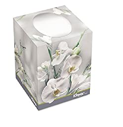 KIM21269 KLEENEX BOUTIQUE Two-Ply White Facial Tissue, 95 Tissues/Box, 36 Boxes/Carton