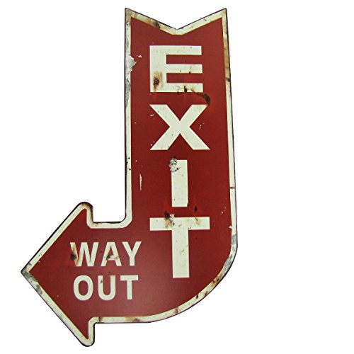 Large EXIT Way Out Home Theater Wall Arrow Sign ()