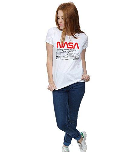 Cult Classic Absolute Nasa T Shuttle Femme Blanc Space shirt tPSSdwq
