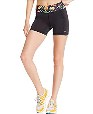 Betsey Johnson Performance Women's Ruffled Yoga Shorts