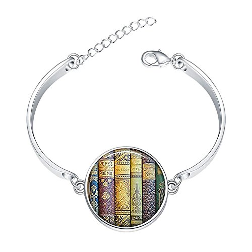 DOME-SPACE Adjustable Silver Bracelets Shabby Books for sale  Delivered anywhere in Canada