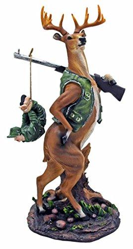 Comical Deer Hunter Figurine Comical Deer