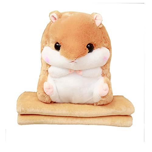 Baby Blanket Hamster Throw Pillow Plush Stuffed Animal Toy 19.7Inch Light Blanket