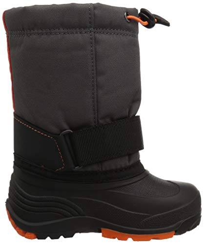 Pictures of Kamik Boys' ROCKETW Snow Boot, Charcoal/Flame, 8 Wide US Toddler 3