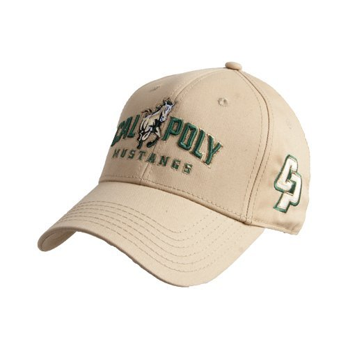 Cal Poly Baseball - Cal Poly Vegas Gold Heavyweight Twill Pro Style Hat 'Calpoly Mustangs Primary Mark'