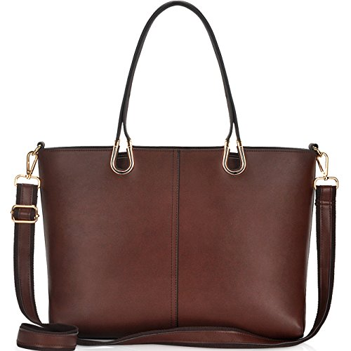 Laptop Bag for Women,Casual Business Computer Bags for Women 15.6 Inch,Large Tote Bag Briefcase with Wide Crossbody ()