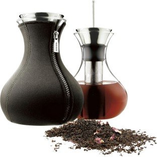 Eva Solo Drip Free Tea Maker with Neoprene Cover, 1.4-Liter, Black