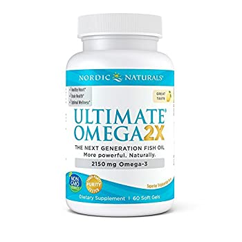 Nordic Naturals Ultimate Omega 2X - Extra Omega Supports for Heart, Brain, and Immune Health, 60 Soft Gels