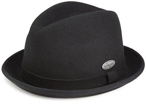 Kangol  Men's Lite Felt Player Hat,Dark Flannel,Large (Player Wool)
