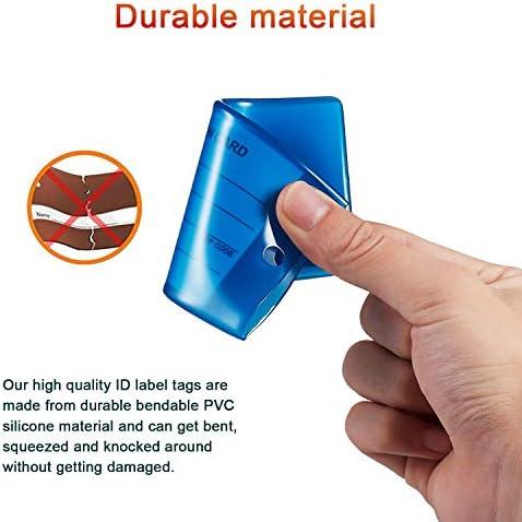 Auervo 8 piezas Etiquetas de viaje de silicona flexible 8 colores para equipaje Paquete multicolor
