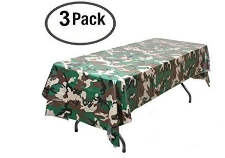 Pack of 3 Camouflage Plastic Tablecover Camo Tablecloth - 54