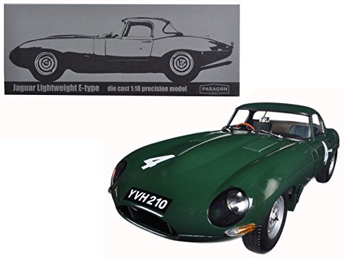 Paragon Jaguar Lightweight E-Type Sutcliffe YVH210#4 Green 1/18 Diecast Model Car 98342