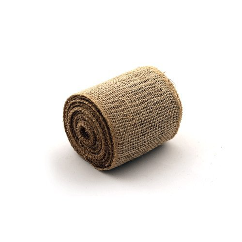 Koyal Wholesale Rustic Burlap Ribbon, 10-Yards (4