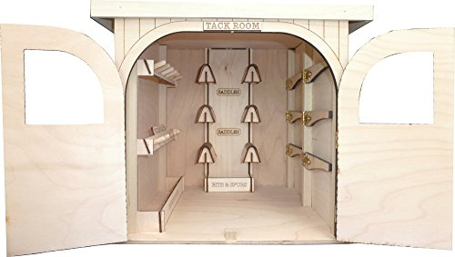 Model Horse Jumps - Wood Tack Room - Saddle, Bridle, and Blanket Racks