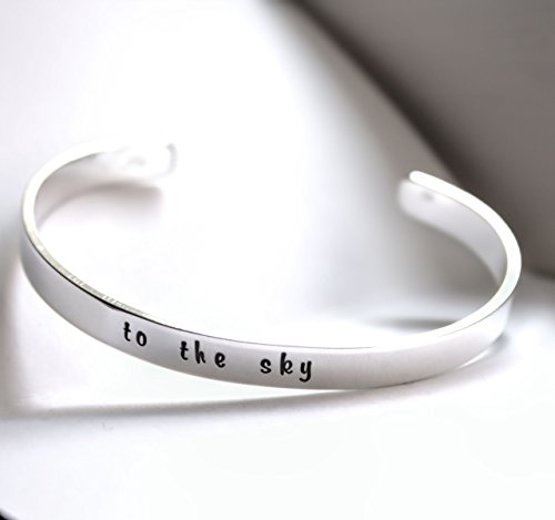 Custom Message Cuff Bracelet, Hand Stamped, Sterling Silver Personalized Jewelry, Custom Bracelet, 1/4