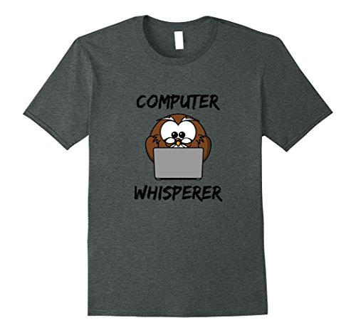 Mens Computer Whisperer Shirt Valentine Day Gift Birthday Present XL Dark Heather