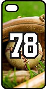 Baseball Sports Fan Player Number 78 Black Plastic Decorative iPhone 6 PLUS Case by ruishername