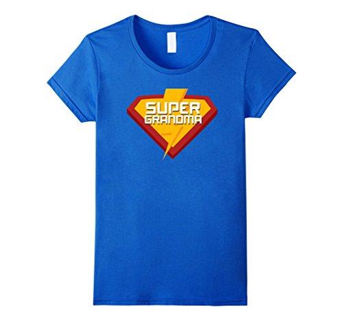 Womens Super hero SUPER GRANDMA T Shirt for Women Men Funny Costume XL Royal Blue - Super Grandma Costume