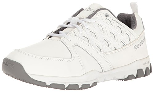 Reebok Work Men's Sublite Work RB4442 Industrial and Construction Shoe, White, 10 M US