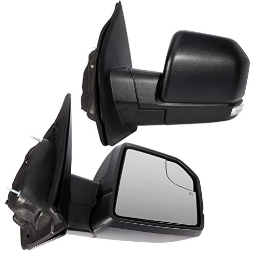 SCITOO Towing Mirrors Exterior Accessories Mirrors fit for 2015-2018 Ford F150 with Left and Right Side Power Heated Turn Signal