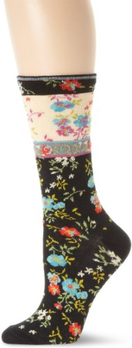 Ozone Women's Mona Linen Socks,Black,One Size