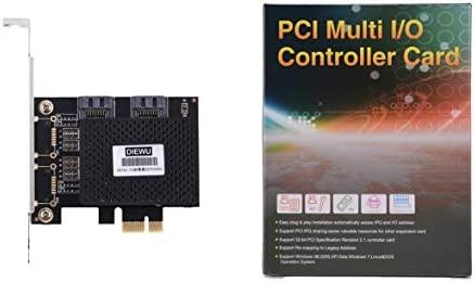 Kongqiabona Adaptador de Tarjeta de expansión SATA3-T2 PCI-E a ...