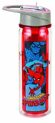 Vandor 26710 Marvel Amazing Spider-man 18 oz Tritan Water Bottle, Blue and Red