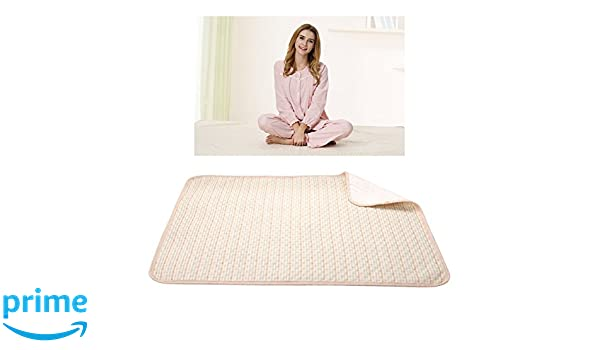 Homyl 2pcs Reusable Washable Underpad Waterproof Absorbent Incontinent Bed Pad Protector for Children Adults Elders Bedroom Furniture