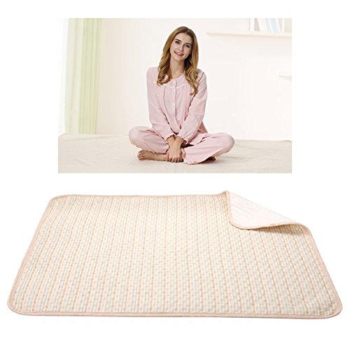 Menstruation Bed Pad Menstrual Period Waterproof Underpads Sheet Protector Aunt Flo Leakproof Mattress Postpartum Mother Bed Wetting Changing Mat Organic Cotton Washable (Color, M)