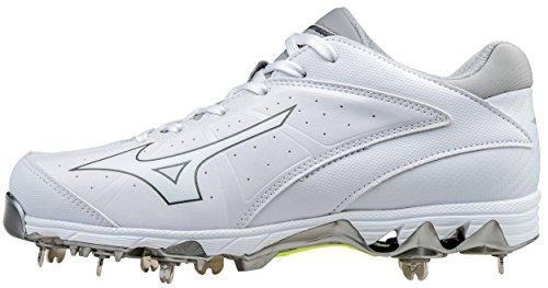 Mizuno Women's 9-Spike Swift 4 Softball Shoe, White, 12 B US by Mizuno