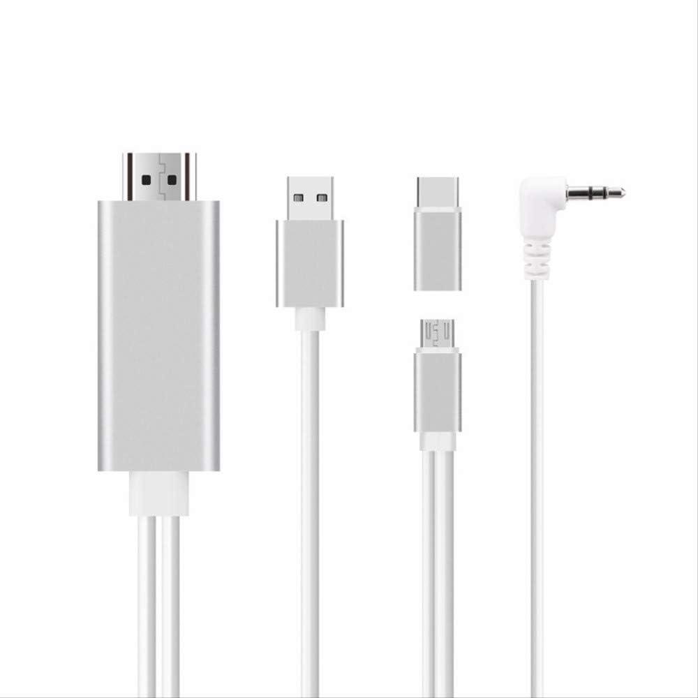 Micro USB Type-C Teléfono móvil Dos en uno con Cable de Pantalla ...