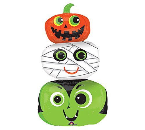 Burton & Burton Halloween Heads Foil Balloon, -