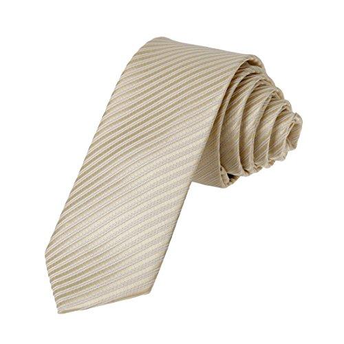 DAE2029 Papaya whip White Handsome Skinny Necktie Matching Present Box Set Stripes Fashion Tie ST By Dan Smith, CID-046-09 ,One Size
