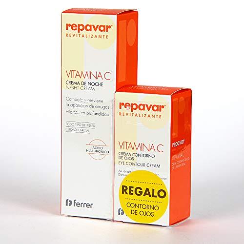 - Repavar Revitalizing Night Cream + Vitamin C 50ml + Eye Contour Cream (Gift) - Facial Care - Antioxidant, Moisturizing And Nourishing Properties - Gentle Emollient Formula - Sensitive Skin - Spain