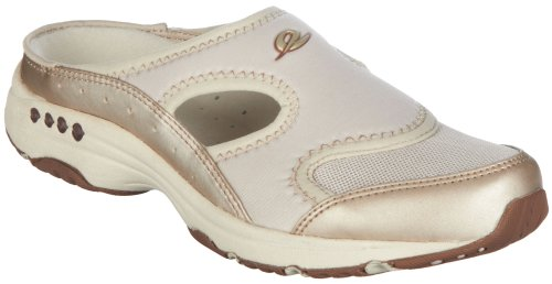 Easy Spirit Womens Instep Athletic Mules 7 Gold