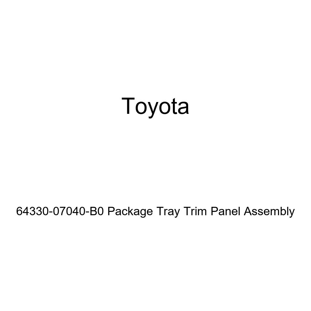TOYOTA Genuine 64330-07040-B0 Package Tray Trim Panel Assembly