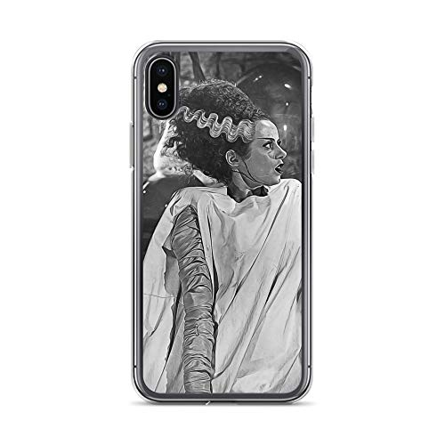 iPhone X/XS Case Anti-Scratch Motion Picture Transparent Cases Cover Digital Painting of Bride of Frankenstein Taken Form Or Movies Video Film Crystal Clear