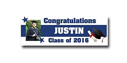 College Graduation Banner Party Supplies Decoration 2ftx6ft Vinyl banner Graduation gift 2016 celebration high school College by Michael D Inc. (Image #1)