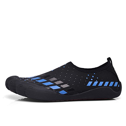 MOM 2018 summer swimming shoes men's wading upstream shoes, non-slip feet outdoor leisure beach shoes blue
