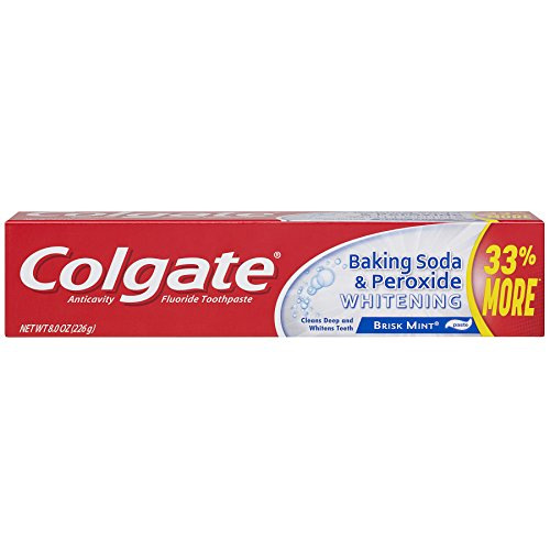 Price comparison product image Colgate Baking Soda and Peroxide Whitening Toothpaste - 8 ounce (6 Pack)
