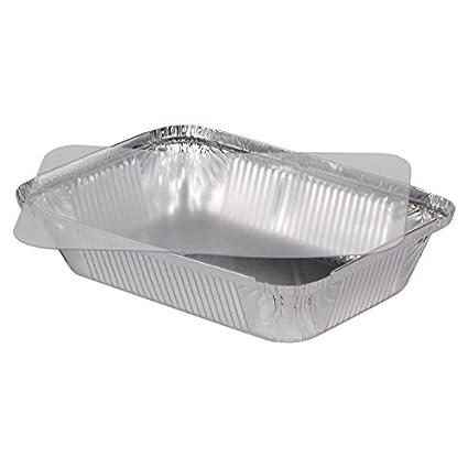 "100 bandejas de aluminio con tapa (PET) modelo ""Sydney"" 960 ml"