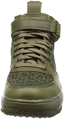 Femmes Nike Flyknit Lf1 Top Bottes Botte De Travail Salut Formateurs 860558 Chaussures De Sport Moyenne Olive / Moyenne Dolive