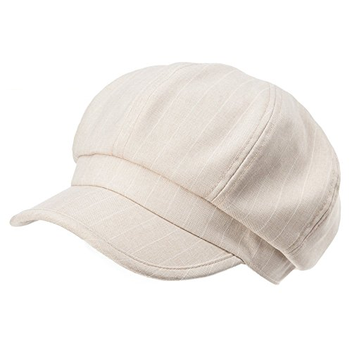 Siggi Newsboy Cabbie Cap Visor Beret Baker Hat Painter Caps for Women Beige