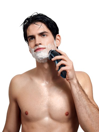 41gTIA6qlqL - Philips Norelco Shaver 4500, Rechargeable Wet/Dry Electric Shaver, with Pop-up Trimmer & Cleaning Brush, AT830/41 Frustration Free Packaging
