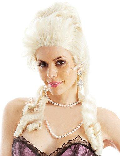fabricantes que venden María Antonieta peluca Europa y América leche rizos dorados únicas en forma: Amazon.es: Deportes y aire libre