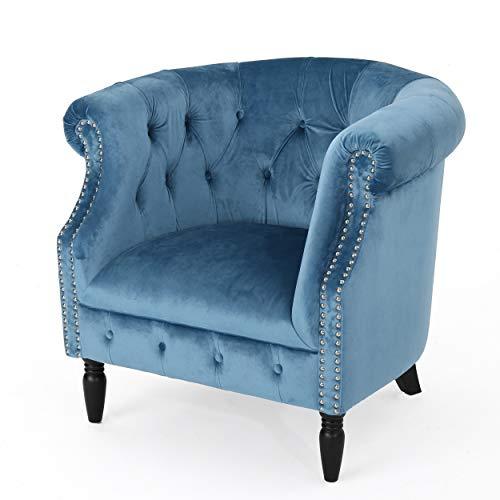 Christopher Knight Home 300886 Akira Arm Chair, Aqua