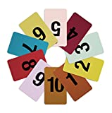 Mark Bric 8-FRT1-10 Fitting Room Tags, Includes Numbers 1-10 in Various Colors, 10 of Each Size (Pack of 100)