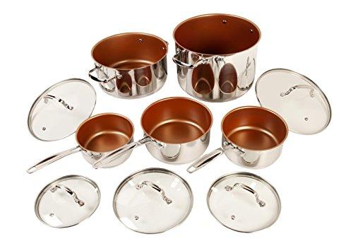 NuWave 31250 10 Piece cookware set, 10Piece, Silver (Perfect Green Nuwave Cookware)