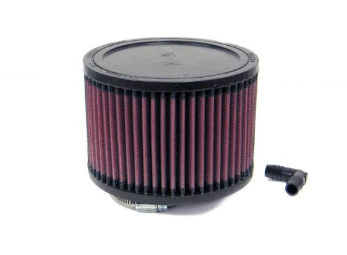 Top K/&N Engineering K/&N RA-0680 Universal Clamp-On Air Filter: Round Straight; 2.563 in 149 mm Flange ID; 4 in 102 mm Height; 5.875 in Base; 5.875 in 65 mm 149 mm